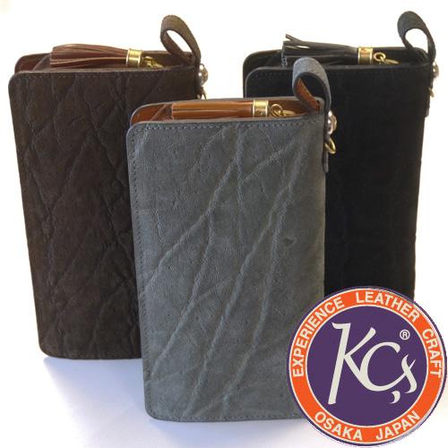 KC'S ケーシーズ ラウンドジップ ロングウォレット エレファント 象革 KRW001 ラウンドファスナー 財布 革 レザー
