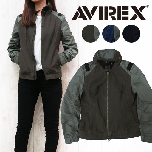 AVIREX アビレックス コンビショートジャケット フライトジャケット レディース アウター ミリタリーコート 6272049