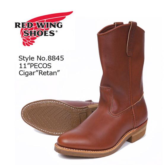 REDWING レッドウィング ペコスブーツ ワークブーツ Brown Chemigum Cork Style No.8845