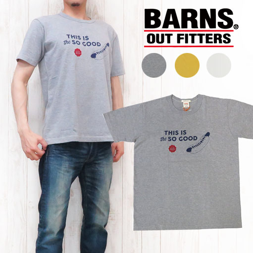 BARNS バーンズ Tシャツ S/S 半袖 プリント BR-7109