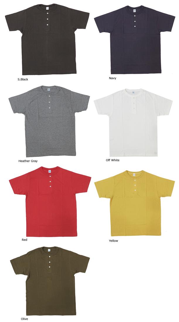 ダブルワークス 泡泡作品 T 恤短短袖 v 领亨利 33008 固体三通