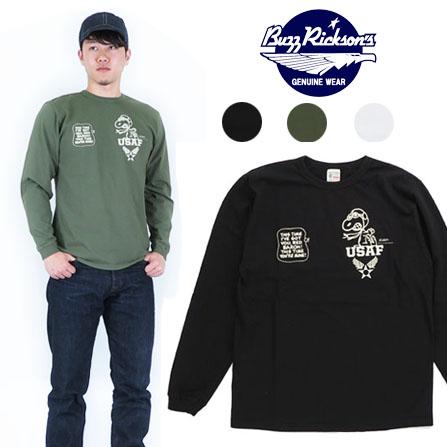 バズリクソンズ BUZZ RICKSON'S Tシャツ ピーナッツ スヌーピー ロングスリーブ プリント