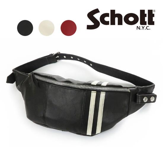 ショット Schott C.R. BODY BAG レザー ボディ バッグ 3189016