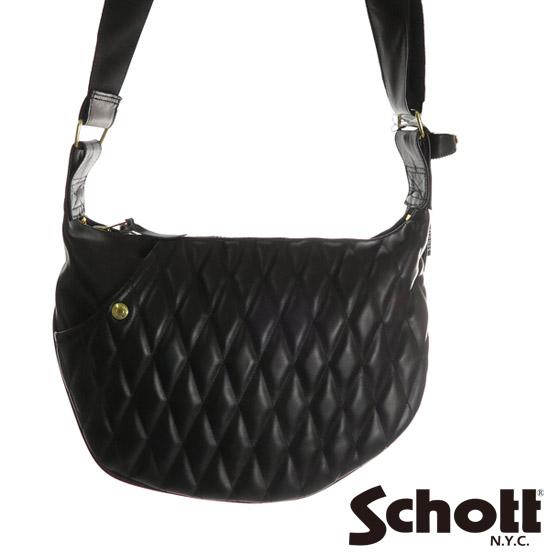 ショット Schott レザー バナナ バッグ クラシック キルティング パッド 3109022