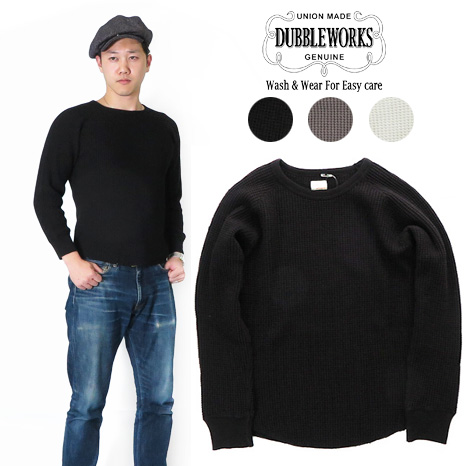 ダブルワークス DUBBLE WORKS ワッフル クルーネック Tシャツ フラットシーマー 57003