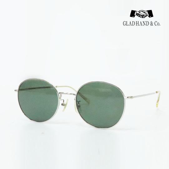 GLAD HAND JAMES 石井浩二 サングラス メタルフレーム ダークグリーンレンズ サンプラチナ SPM 眼鏡 メガネ GLASSES グラッドハンド
