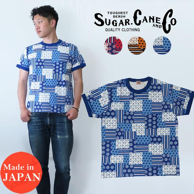 シュガーケーン SUGAR CANE マリンモチーフ リンガー Tシャツ 半袖 SC78039