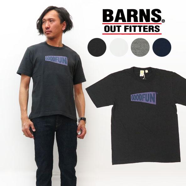 バーンズ BARNS 吊り編み 半袖 プリント Tシャツ BR-7831