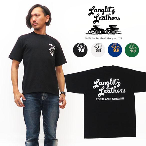 ラングリッツレザーズ Langlitz Leathers 半袖 Tシャツ ロゴプリント LL-TYPE-K9 【2019年 秋冬 新作】