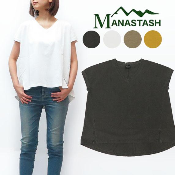 マナスタッシュ MANASTASH レディース 半袖 Vネック フレア Tシャツ 7293010