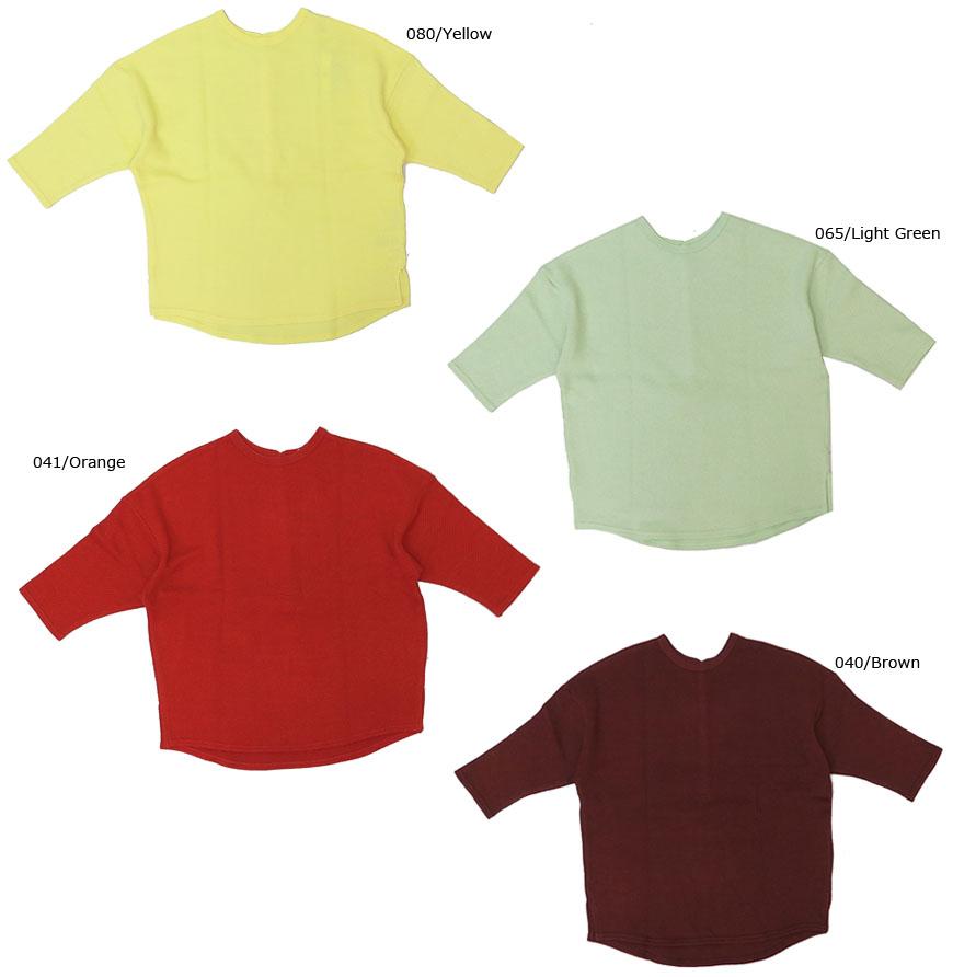 JOHNBULL ジョンブル レディース ダブル鹿の子 バック ヘンリーネック Tシャツ 半袖 無地 ZC4347vb6gfyY