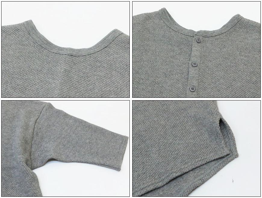 JOHNBULL ジョンブル レディース ダブル鹿の子 バック ヘンリーネック Tシャツ 半袖 無地 ZC43454Lj3ARq