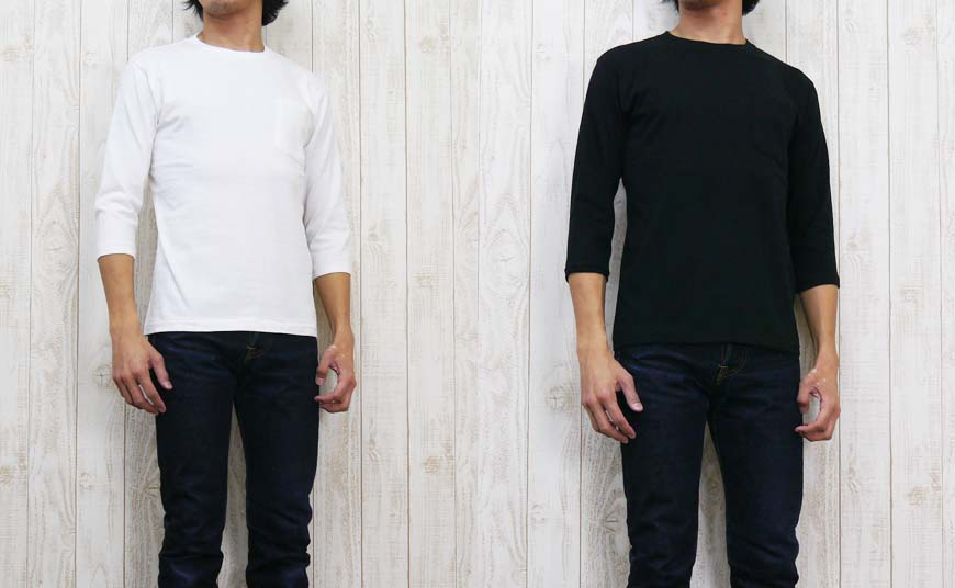 有双作品DUBBLE WORKS T恤7分袖口袋的素色棒球53004
