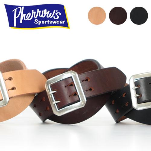 フェローズ Pherrow's UKサドルレザー ダブルホール ベルト 4.5mm厚
