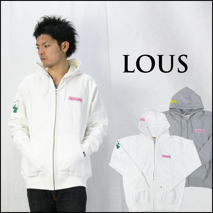 LOUS ロウズ フルジップスウェット(トレーナー)パーカー「LOUS」