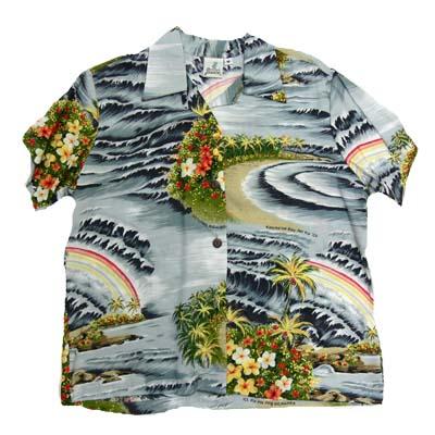 PINEAPPLEJUICE パイナップルジュース アロハシャツ「flower」(ハワイアンシャツ)