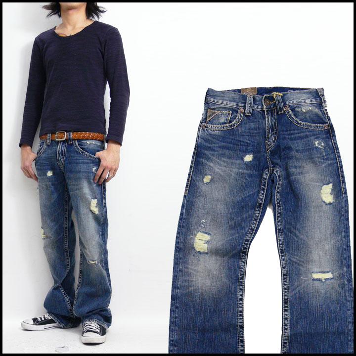 "SILVERJEANS 牛仔裤银 925 系列""扎克""苗条免费牛仔裤 (牛仔裤 & G 面包牛仔) 用洗"
