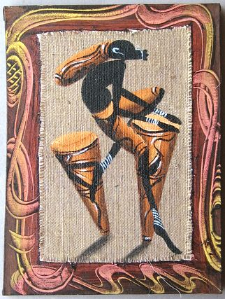 アフリカンモチーフのキャンバス絵画 キャンバス画☆アフリカン アート≪40×30≫01 限定タイムセール 宅配便送料無料