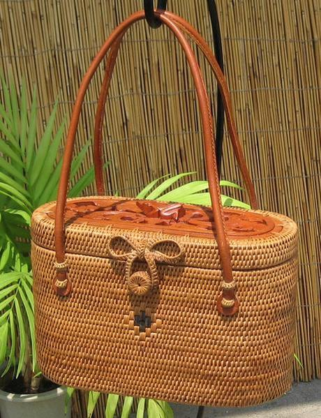 Earth Village Handicrafts Bali Basket Bag S No 04 Rakuten