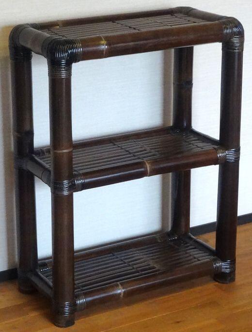 《アジアン家具》バンブー2段ラック
