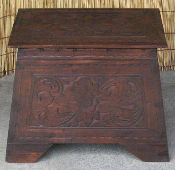 《アジアン家具》木製収納箱~踏み台~/アンティーク調