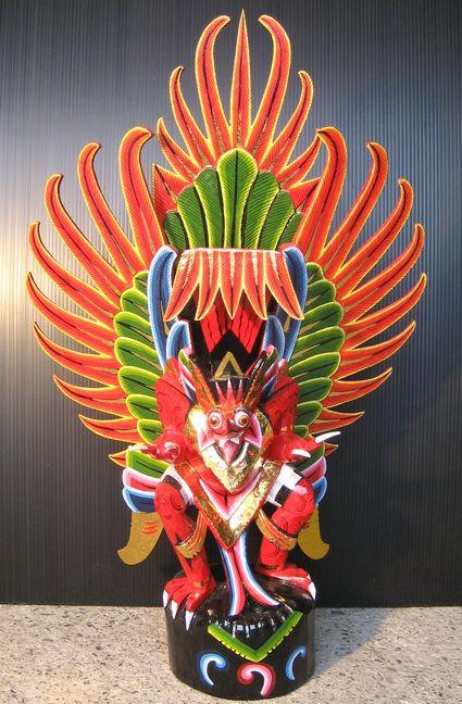 木彫りガルーダLサイズ☆レッド