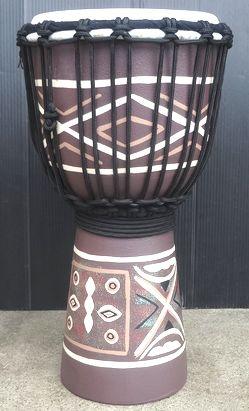 インドネシア製上質ジャンベ 小さくても十分楽しめるSサイズです 送料無料 マホガニー木製ジャンベ ジェンベ SF ☆ 本物 ☆木彫りSサイズ 限定特価
