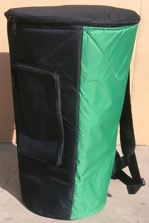 受注生産品 分厚いクッションの高級ジャッベ バッグ 高級ジャンベバッグLサイズ~グリーン~ 送料無料 ジェンベケース 売店