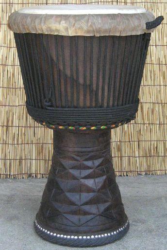エボニー(黒檀)ジャンベ~フォラ~《H.60cm~No.11》☆≪牛皮≫