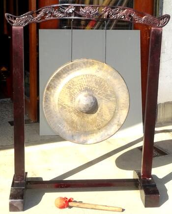ベトナムゴング《銅鑼》☆スタンド付き50cm径