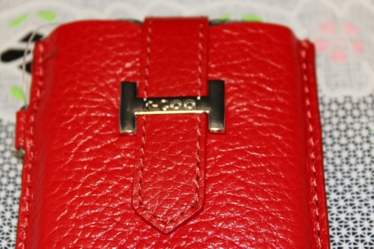 ゆうパケット メール便 送料200円 iPhone5 日本正規代理店品 5S SE 4インチ 半額 赤色 挿入型 高級本革 スマホケース