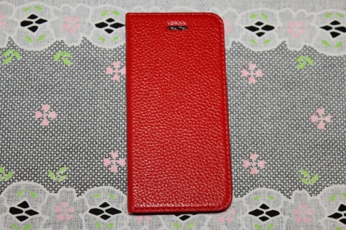 信用 ゆうパケット メール便 登場大人気アイテム 送料200円 iPhone6 iPhone6s 手帳型 高級本革 4.7インチ スマホケース赤色
