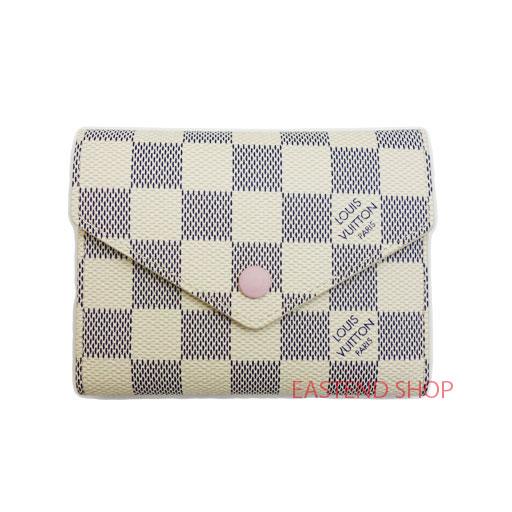 e01e3e3e8f5f LE CHIEN  LOUIS VUITTON VICTORINE WALLET N64022 Damier Azur Pink ...