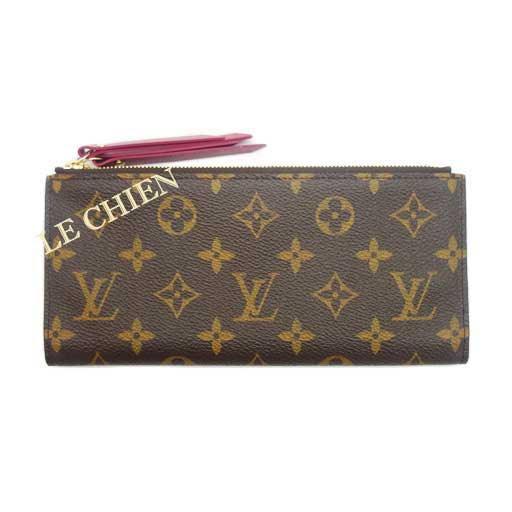 【未使用】ルイヴィトン 長財布 M61269 ポルトフォイユ・アデル モノグラム フューシャ