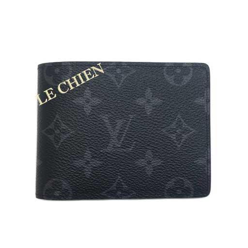 【未使用】ルイヴィトン 二つ折り財布 M61695 ポルトフォイユ・ミュルティプル モノグラムエクリプス
