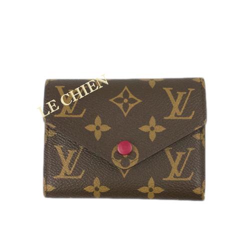 【未使用】ルイヴィトン ミニ財布 M41938 ポルトフォイユヴィクトリーヌ モノグラム フューシャ