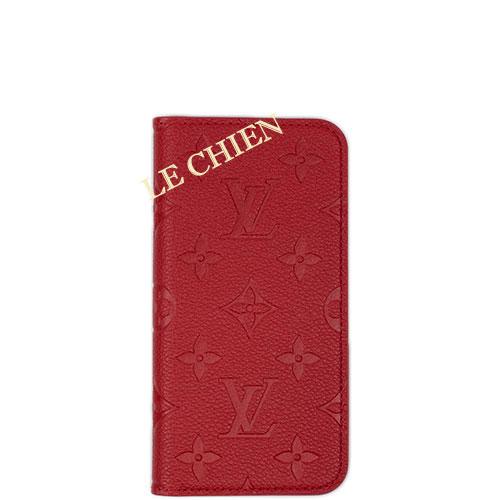【未使用】ルイヴィトン iPhoneケース/iPhone X&XS M63588 モノグラム アンプラント スカーレット