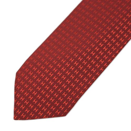 66081092ab24 LE CHIEN  Hermes FACONNEE H 24 H texture tie
