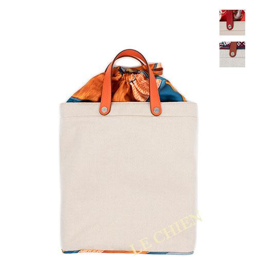 【新品】エルメス プティアッシュトートバッグ レザーハンドル キャンバス 全3色