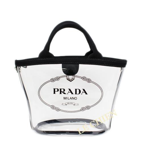70e6f463ebf1 Le Chien Prada Vinyl Tote Bag 1bg187 Plex Black Rakuten Global Market