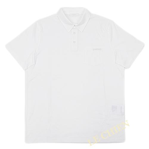 【新品】プラダ シンプル ポロシャツ ホワイト Lサイズ