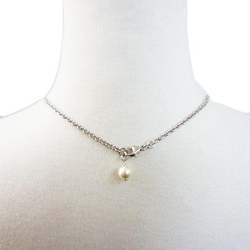 CHANEL CC necklace A97786 stone/pearl