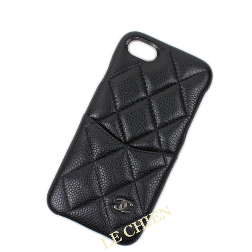buy popular e6f5c fb92e Chanel iPhone case A83563 iPhone7/iPhone8 black / silver metal fittings  caviar skin