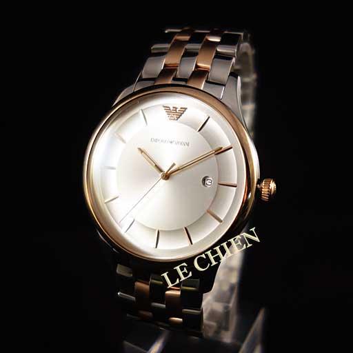 【未使用】エンポリオアルマーニ 腕時計 AR11044 シルバー/ピンクゴールド