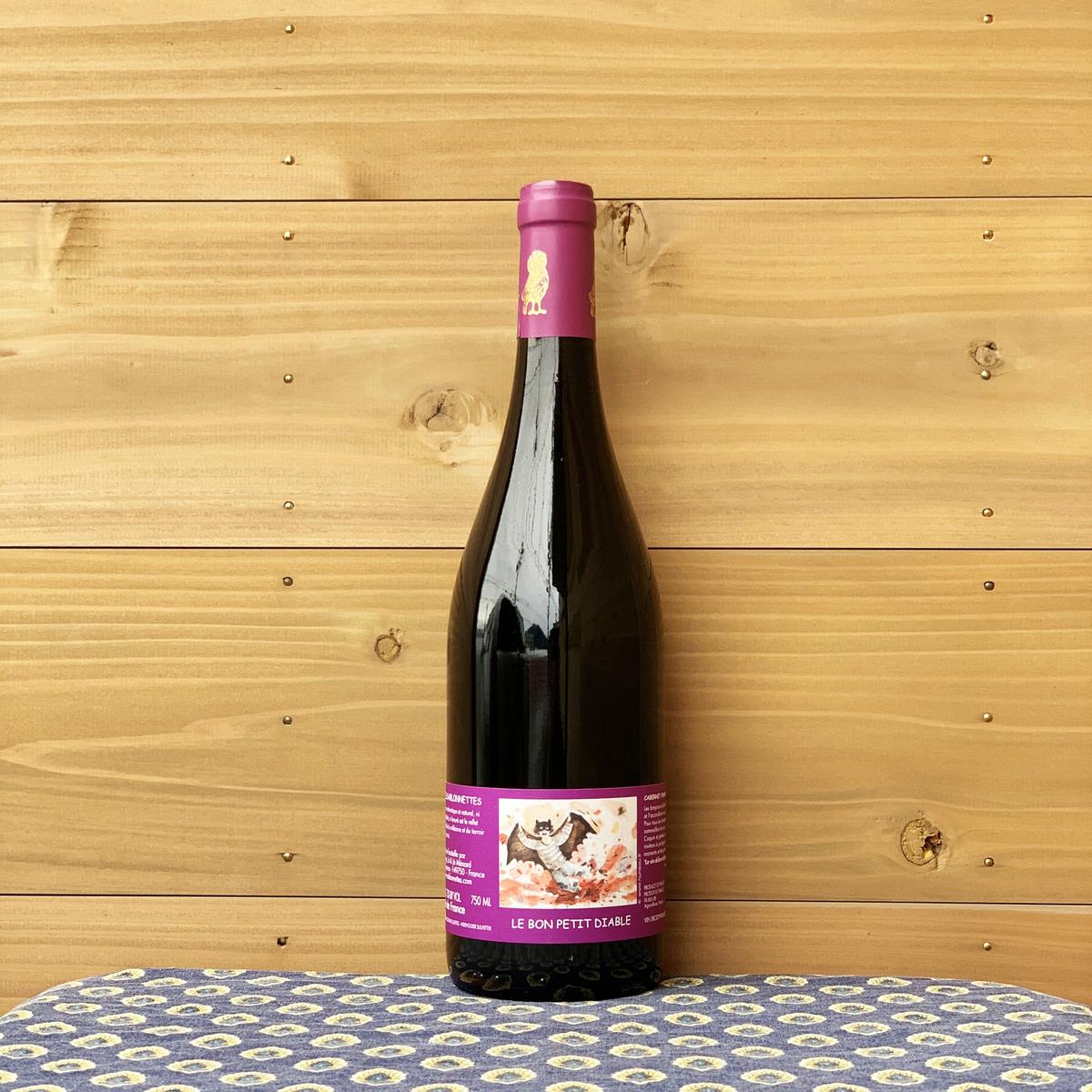 小さないたずらっ子 悪魔 という名前 エチケットの子供の絵がキュート ロワール地方 フランス 上等 サブロネット ディアーブル 赤ワイン 自然派ワイン プティ ル '16 ボン タイムセール