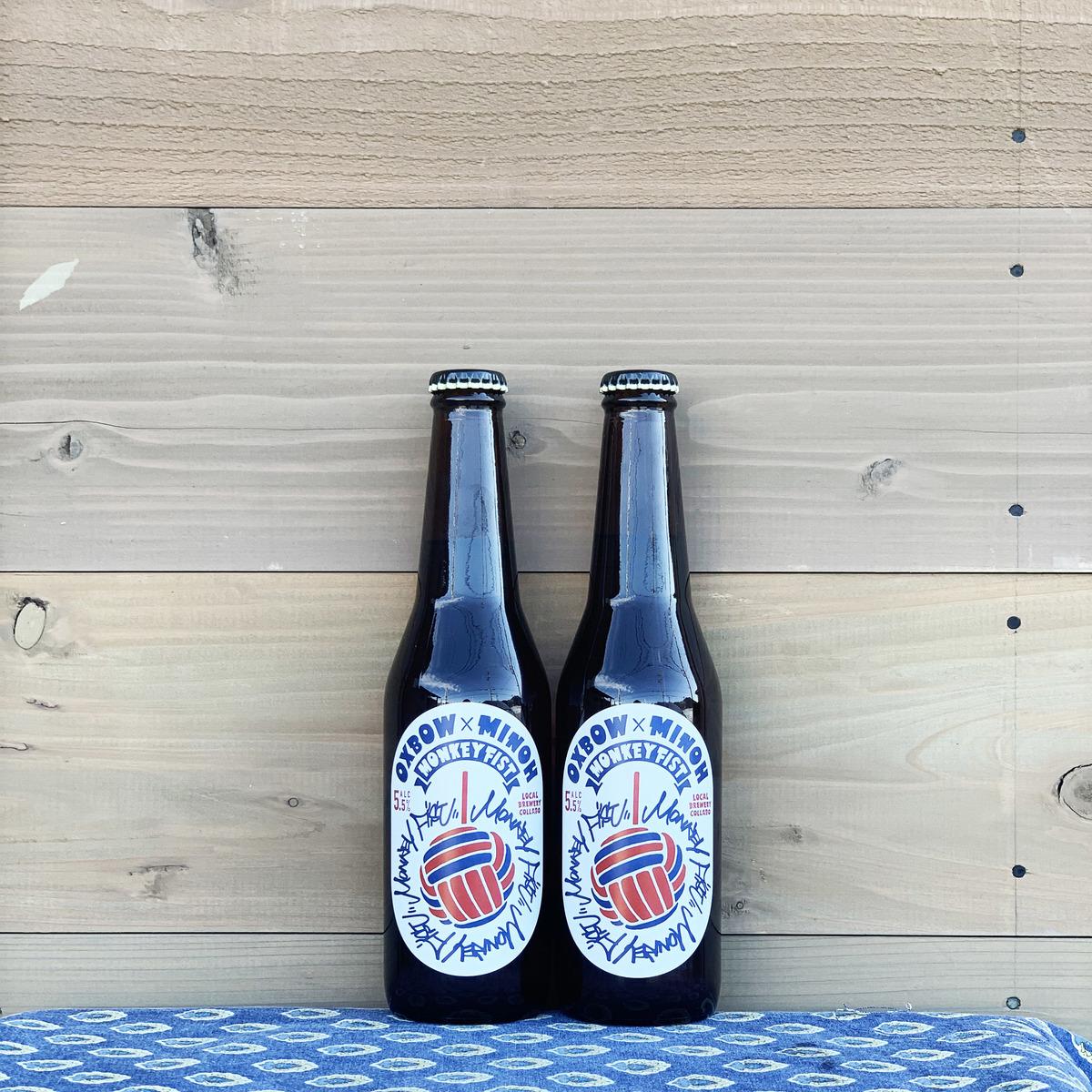 箕面ビールとOXBOWのコラボレーションビール クラシックな綺麗なビールを得意とする両者の造るイタリアンピルスナーはマストな逸品です 箕面×OXBOW コラボレーション ビール Monkey Fist 2本セット OXBOW ※要クール便 クラフトビール - 新作入荷 有料 箕面ビール アメリカ おすすめ ピルスナー