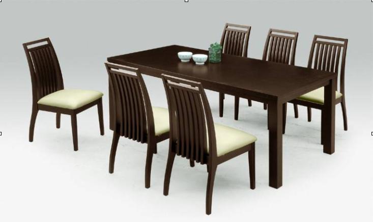 ダイニングテーブルの重量感と椅子の軽やかさは相性抜群!天板厚み35mm 幅180cm 奥行き90cm 大家族 ファミリーサイズのダイニング7点セット ナチュラル/ダークブラウン2色から選べます♪アルファ(alpha)ダイニング7点セット【02P03Dec16】