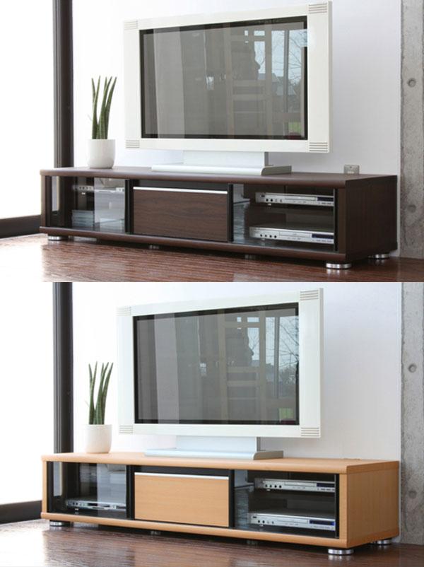 日本製完成品でこのお値段! 幅160cmのローボード ナチュラル ブラウン 2色から選べる♪シンプルなデザインで飽きが来ないTV台 メーカー直結 ★リーク160ローボード【02P03Dec16】