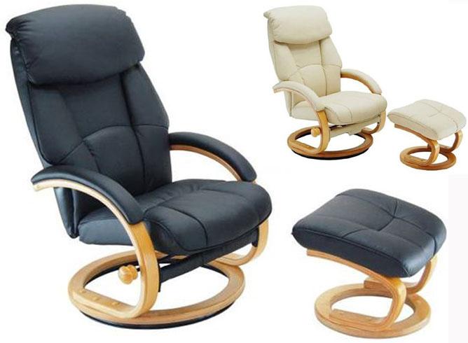 リクライニングチェア リラックスチェア パーソナルチェア 足を伸ばせるオットマン付き ソファ リビングチェア チェアー sofa ソファーチェア 一人用 ひとり シンプル おしゃれ 肘付 ブラック アイボリー ナチュラル 椅子 チェア 書斎用チェア 社長椅子 丸脚 ★CM73426