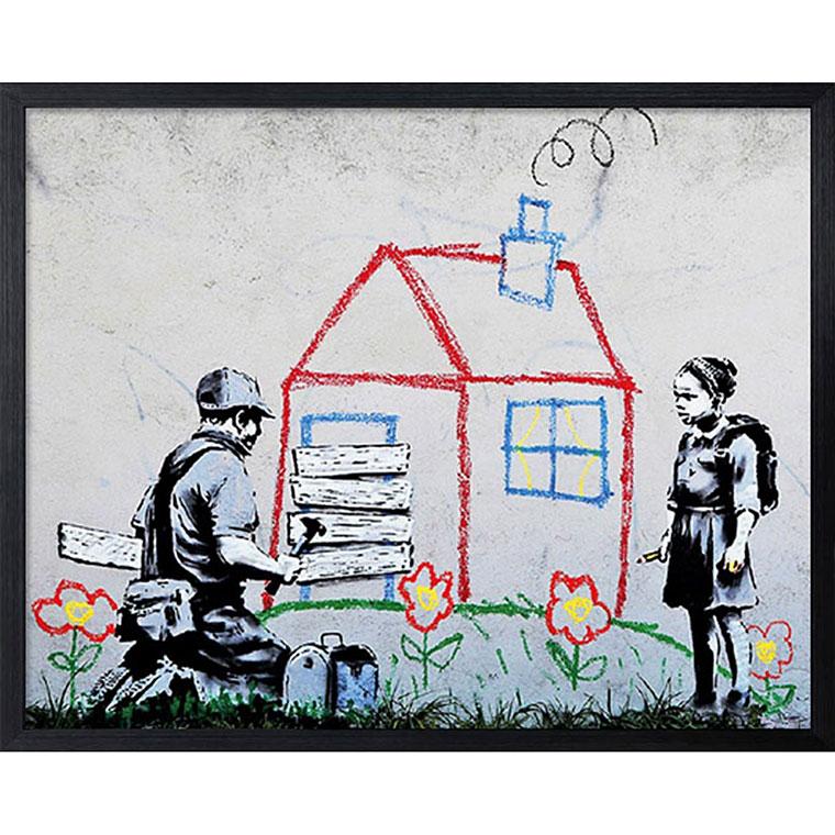 バンクシー Banksy ポスター アートパネル 絵画 インテリア アートポスター 壁掛け アートフレーム タペストリー プリントポスター デザイナー おしゃれ シンプル モダン IBA-61740